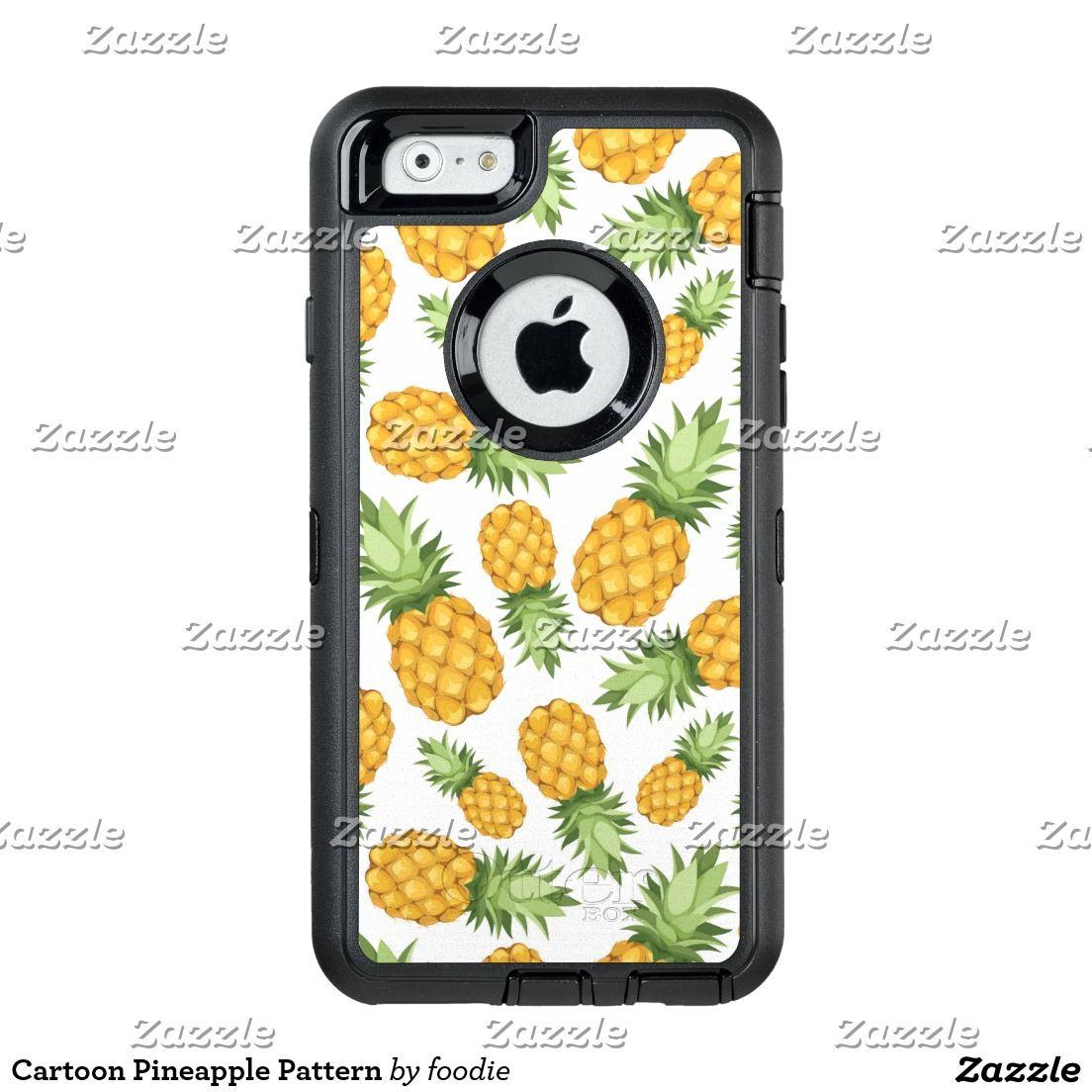 Cartoon Pineapple Pattern Otterbox Defender Iphone Case Series 6 Plus Neon Rose
