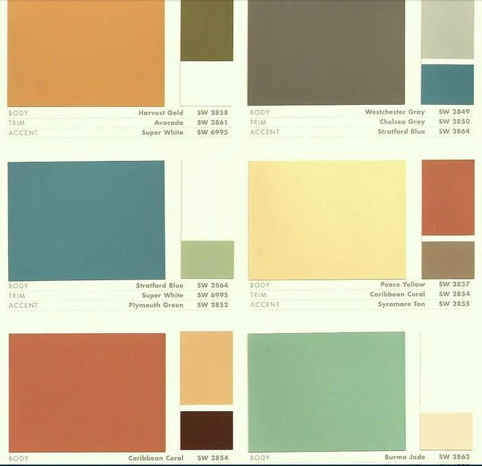 Image result for sherwin williams mid century color palette Paint