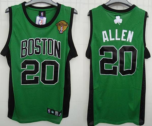 8be1116aa Celtics  20 Ray Allen Embroidered Green Black Number Final Patch NBA Jersey!  Only  20.50USD
