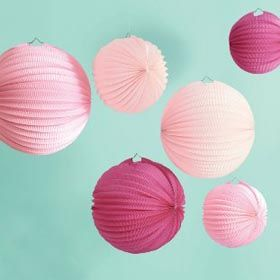 These festive lanterns add a festive touch to your ocasion. Makes six lanterns in two sizes - three 28cm diameter eyelet paper lanterns and three 20cm diameter paper lanterns. Easy assembly required, just unfold and insert the wire frames. $24.95