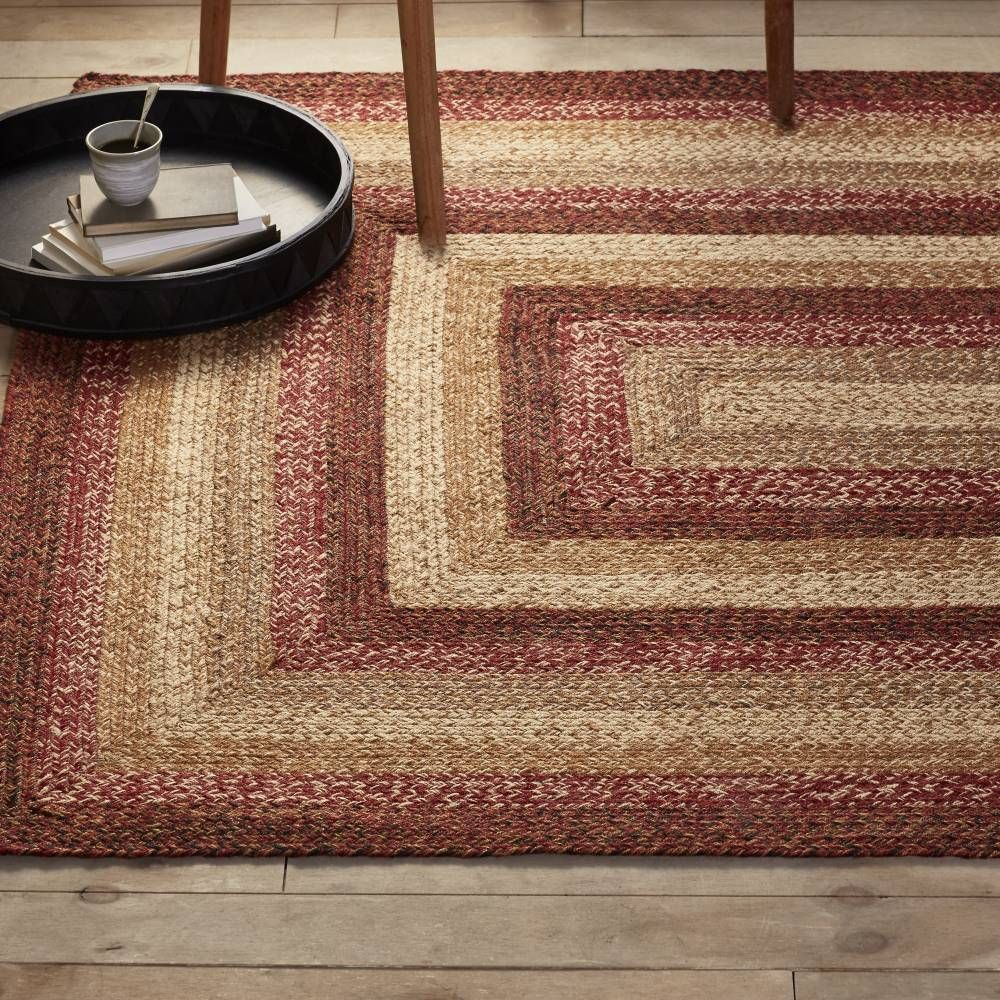 Country Style Braided Jute Rugs