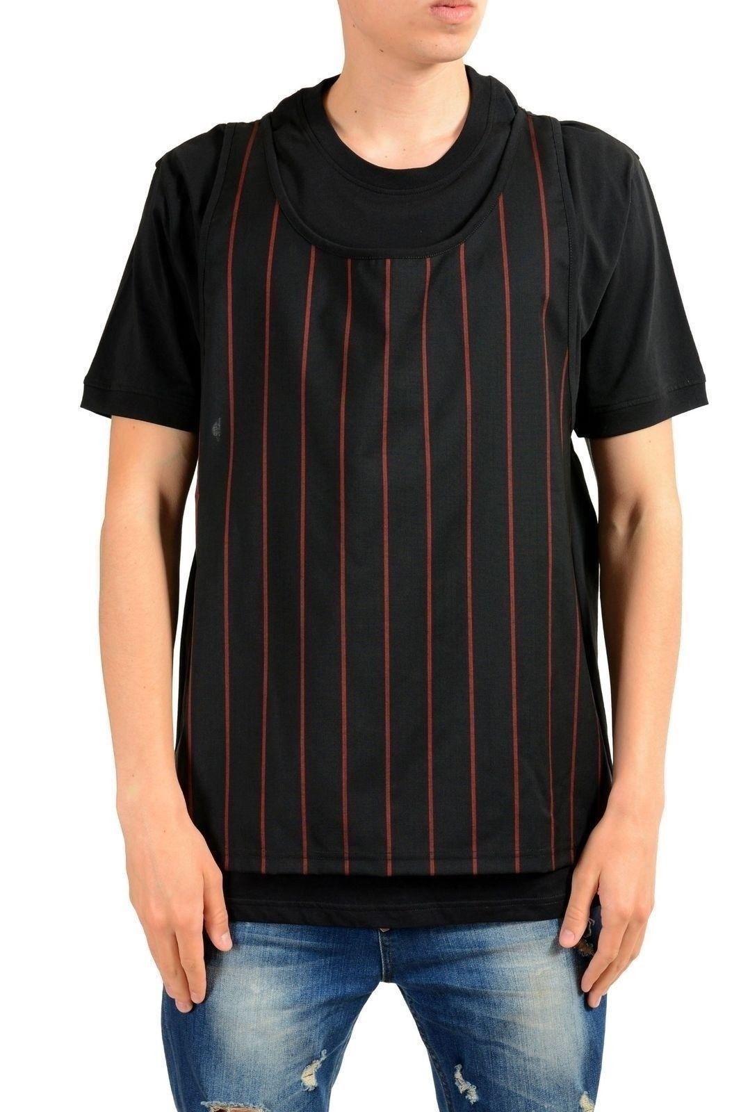 5881ef87 72.24 | Versace Versus Men's Wool Layered Crewneck T-Shirt US M IT ...