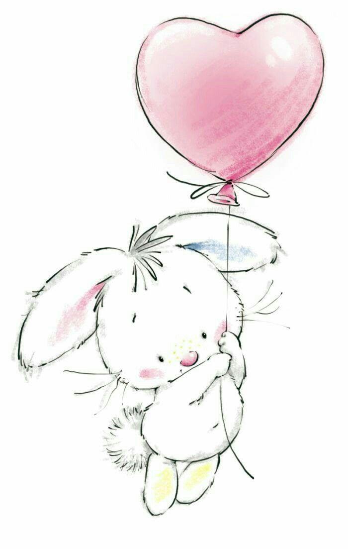 Днем рождения, милые зайчики картинки рисунки