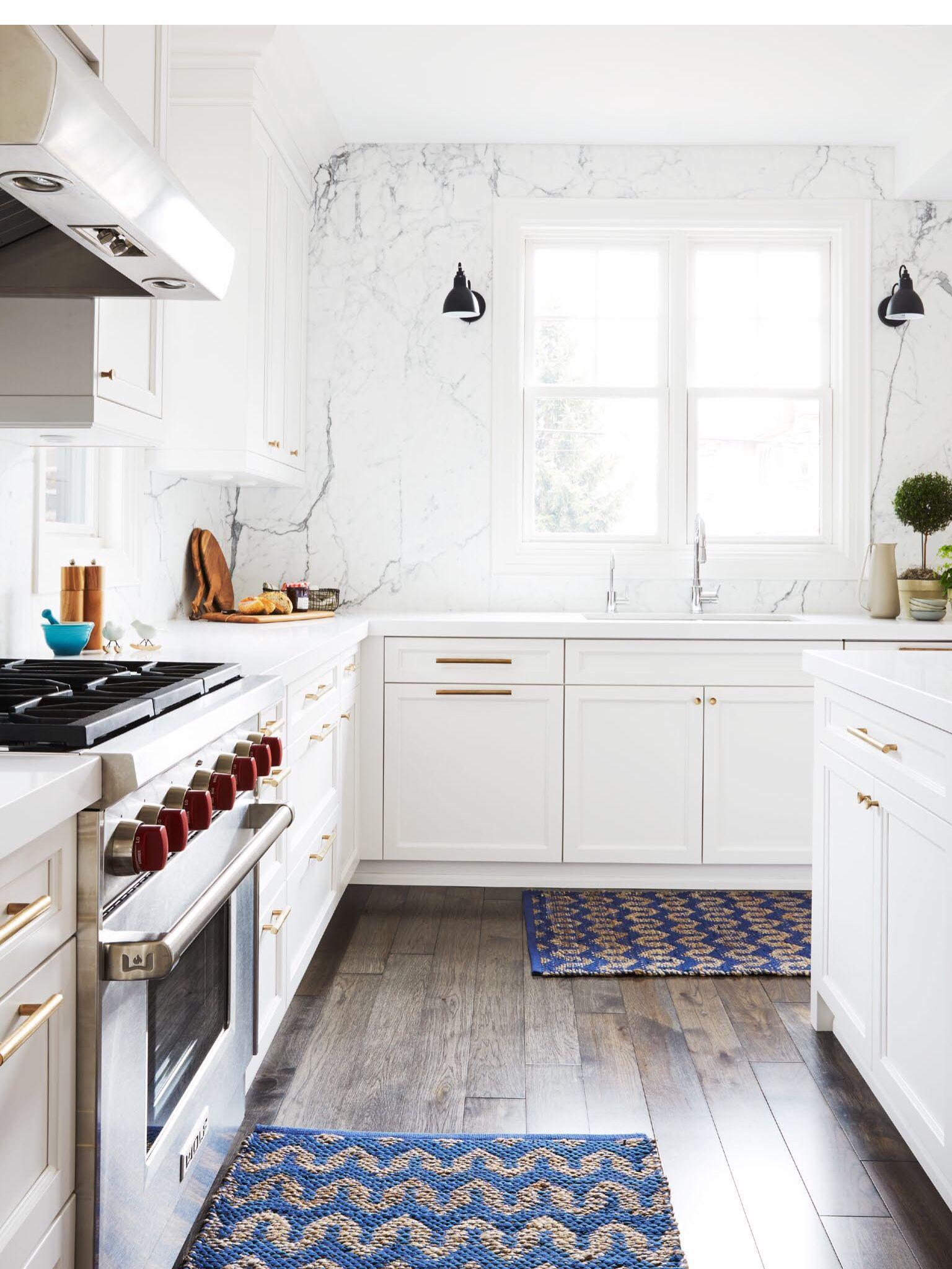 white cabinets with copper hardware  kitchen design home