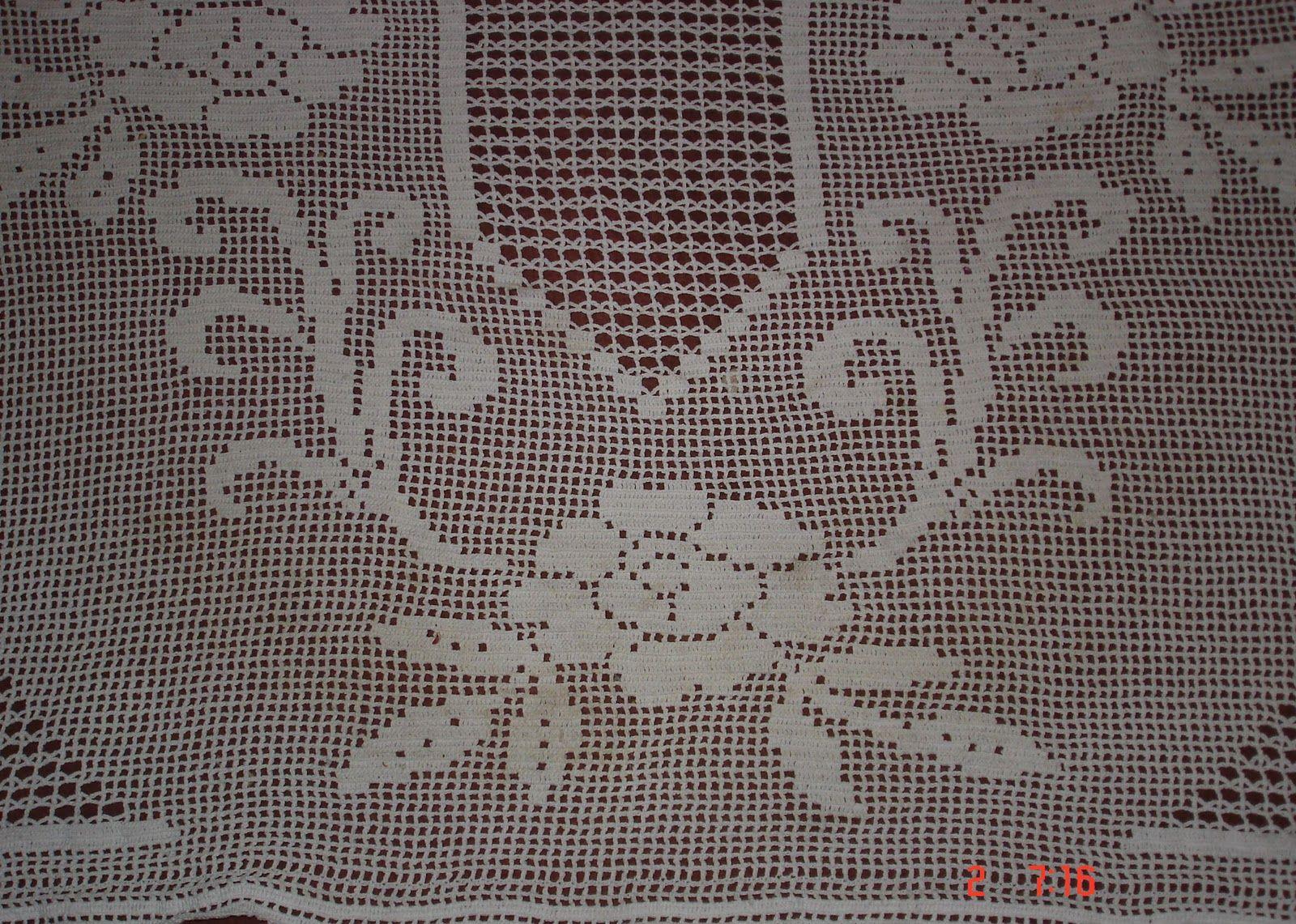 Diameter 72 Circular Tablecloth Pattern Vintage Crochet Pattern PDF for Filet Crochet Tablecloth w Dogwood Flowers Motif SKU 137-4