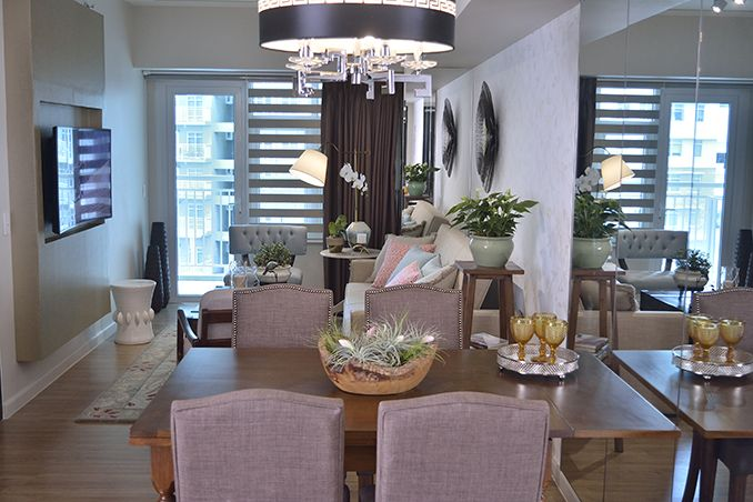 As Seen In Many Small Spaces A Mirror Was Added In The Dining