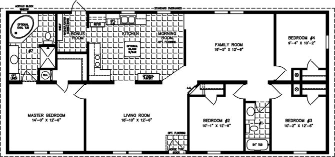 The TNR46013B Manufactured Home Floor Plan – Jacobsen Modular Home Floor Plans