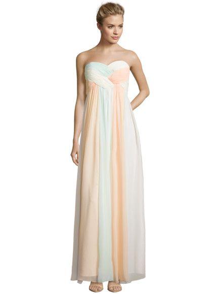 LAONA Empirekleid aus mehrfarbigem Chiffon in Orange ...