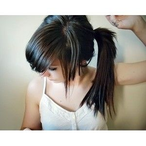 ponytail haircut layers layered ponytail and bangs hairstyle hair 9917