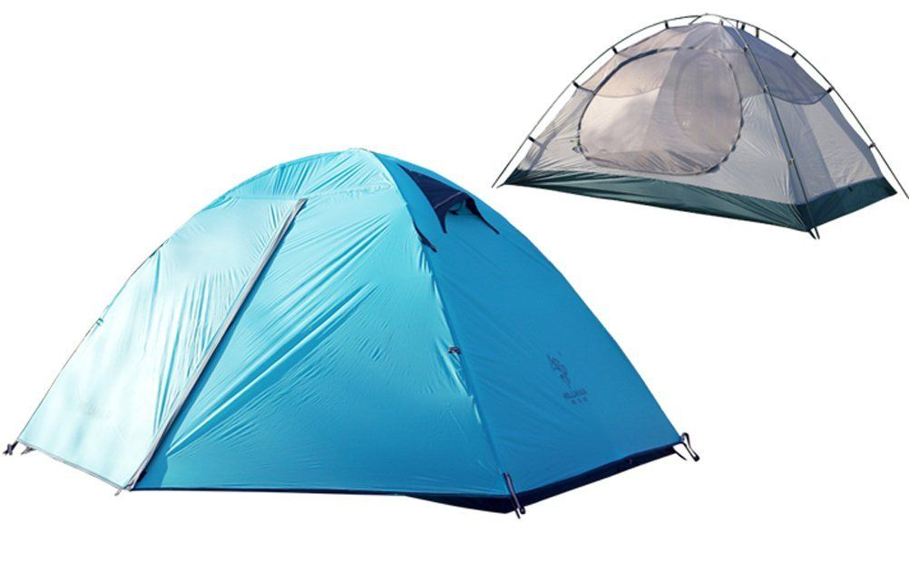 Lightweight 2 Person 4 Season Tent C&ing Backpacking Tent with Carry Bag Double Layer Waterproof Blue -- See this awesome image  Hiking tents  sc 1 st  Pinterest & HILLMAN 2 Person 4-Season Camping Tent - Waterproof  Windproof ...