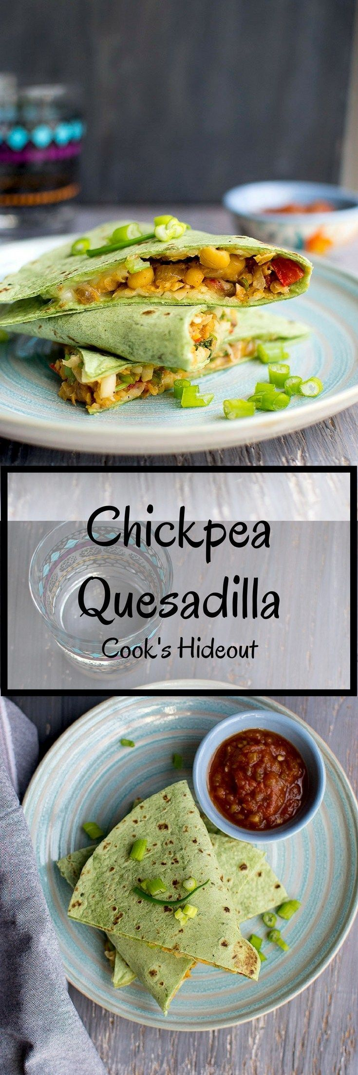 Perfect weeknight meal and lunch box item  Quesadilla with vegetarian filling Quick and easy vegetarian Quesadilla recipe with protein packed chickpea and cheese filling...