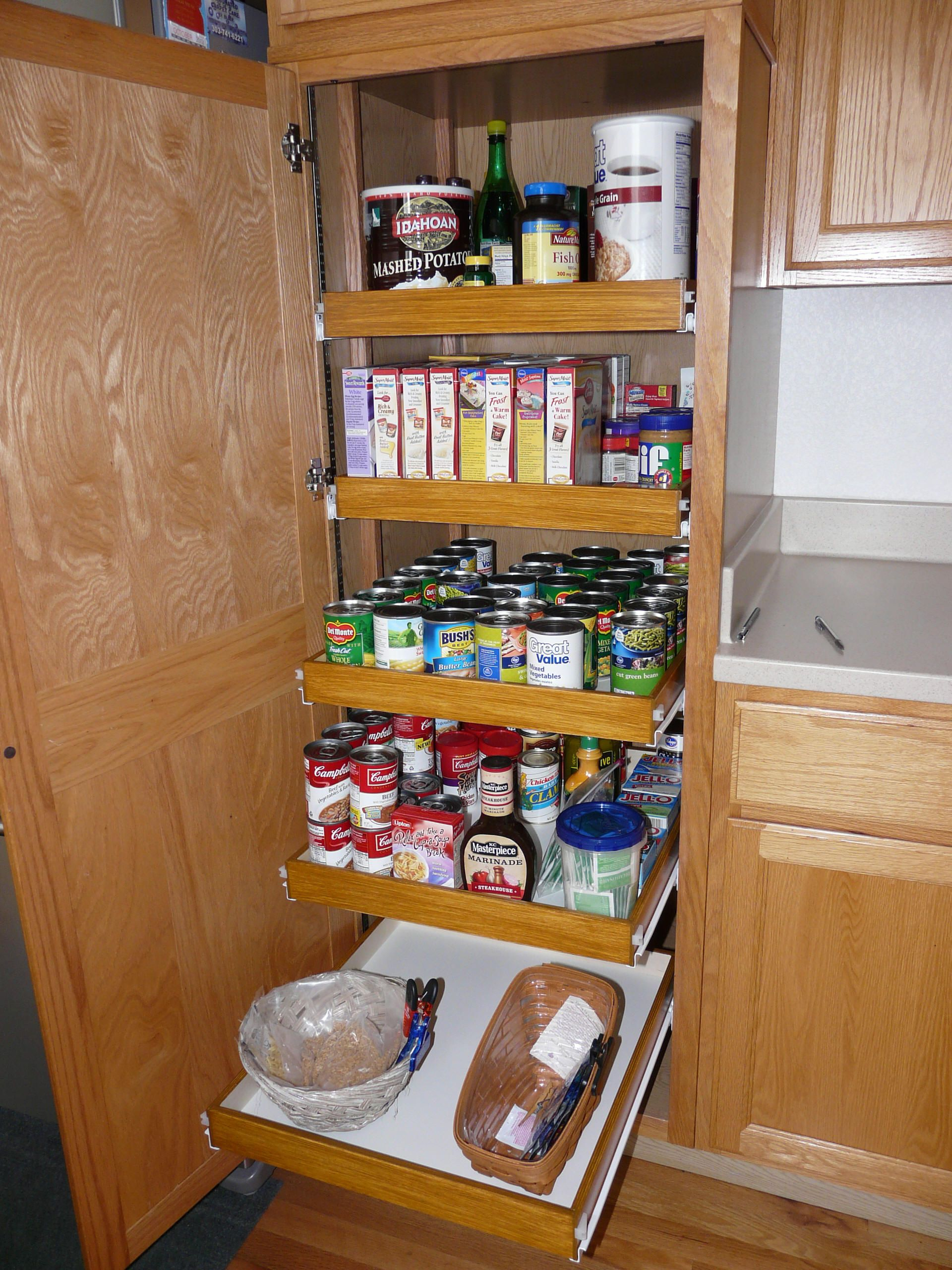 For Kitchen Storage In Small Kitchen Organizational Ideas For Deep Cabinets Cabinet Organization
