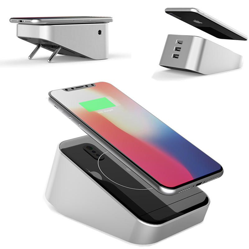30.99] Bakeey 3 USB Ports 10W Qi Wireless Charger Smart