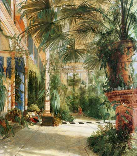 palmenhaus auf der pfaueninsel bei potsdam malerei pinterest pfaueninsel berlin und malen. Black Bedroom Furniture Sets. Home Design Ideas