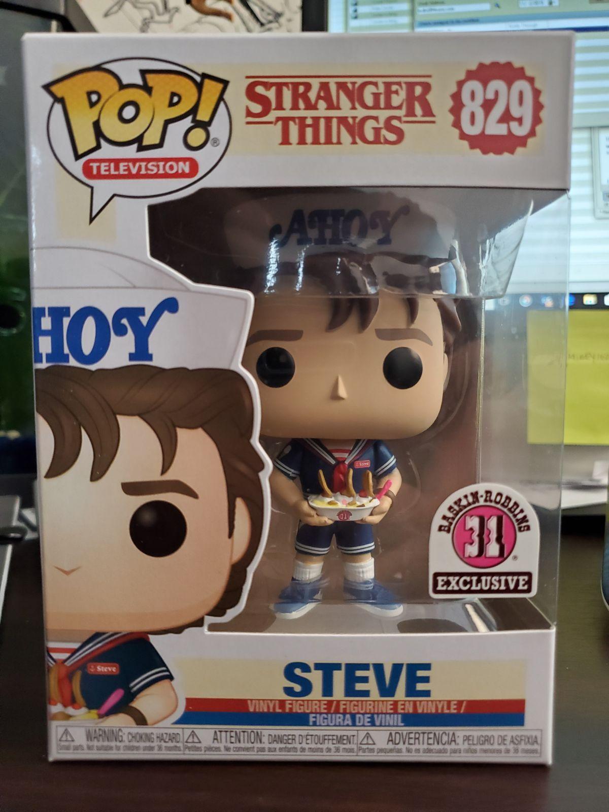Steve Funko Pop Baskin Robbins Stranger Things 829 IN HAND NEW