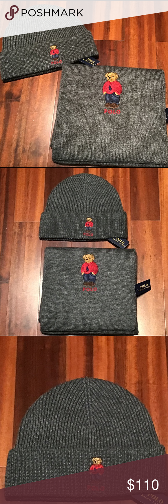 8bd0724fc954 NWT Polo Ralph Lauren Polo Bear Scarf Hat Gray Polo Ralph Lauren Polo Bear  Scarf Hat Beanie Set - Gray New with Tags Polo by Ralph Lauren Accessories  Hats