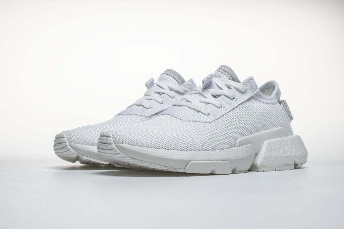 new style 53e56 b6e20 Adidas POD-S3 1 Boost B37452 Triple White Shoes It may not have a name that  rolls of the tongue, but were telling you now, dont sleep on the upcoming  ...