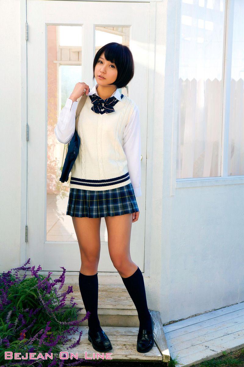 Asian mini skirts socks loafers