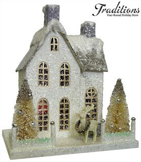 painting glitter houses | HAMILTON HOUSE: ~Glitter Houses~
