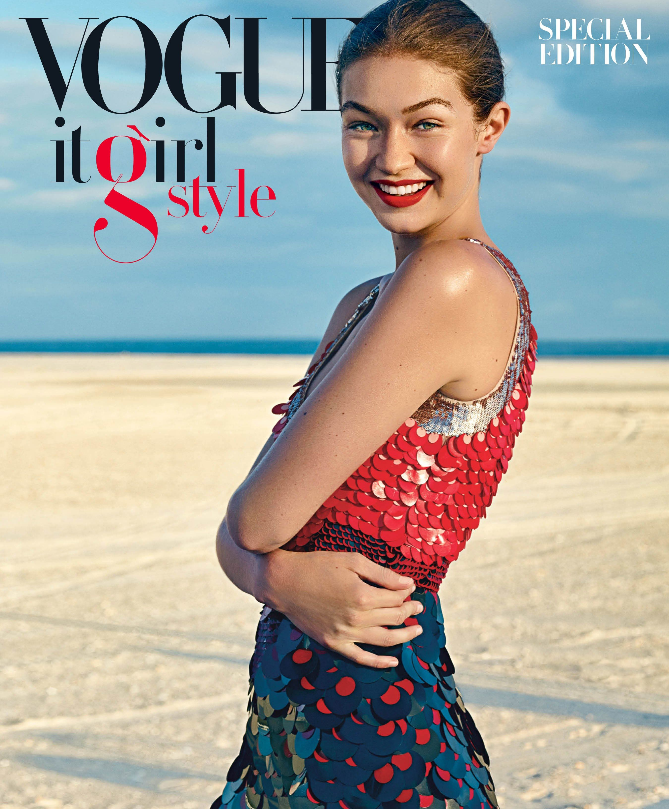 a6b8b78481 Gigi Hadid Is the Ultimate It Girl on the Cover of  Vogue  s Special Issue