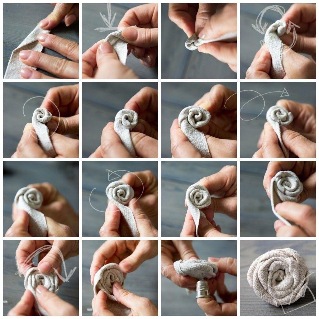 DIY Stoffrosen - CreativLIVE #flowerfabric