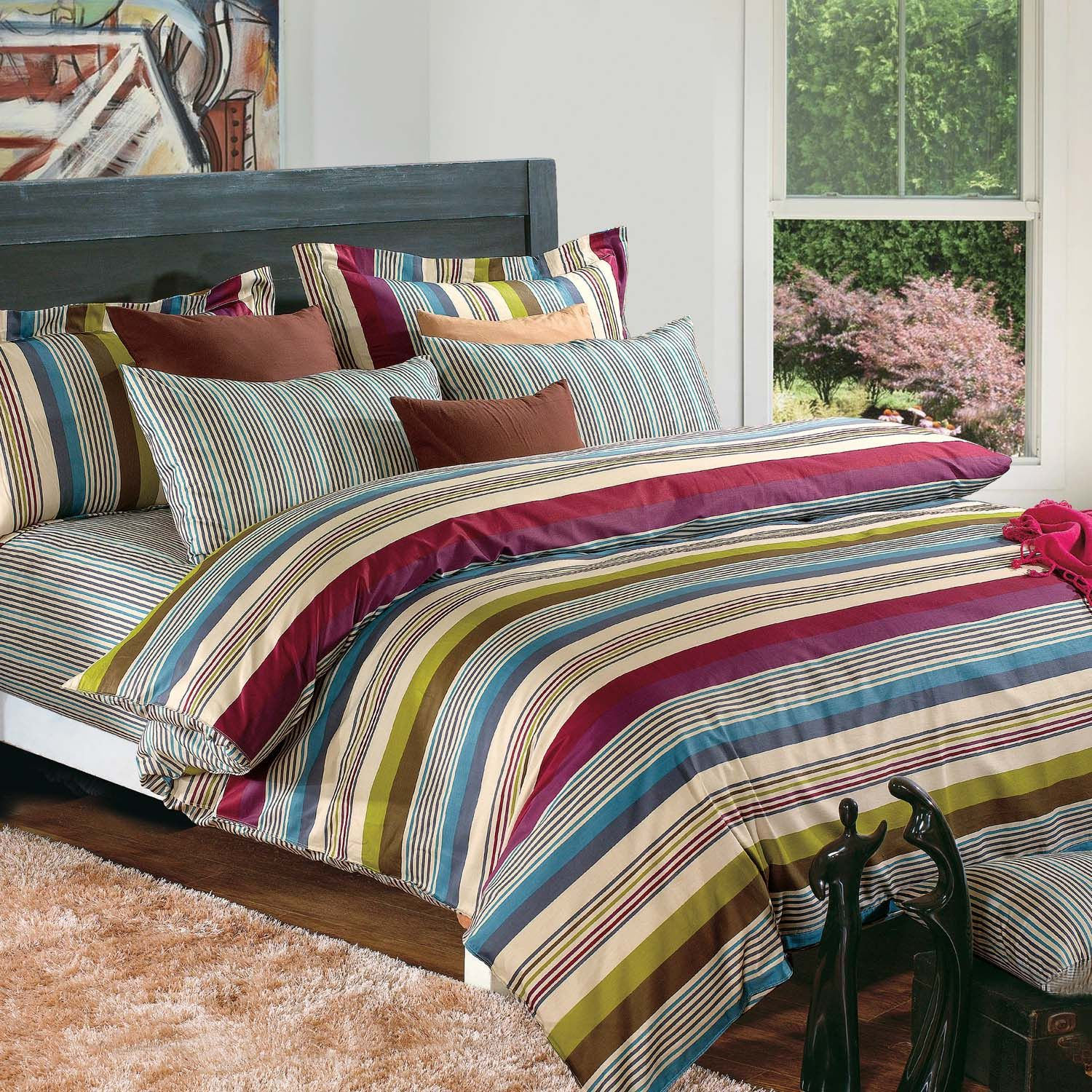 Each set contains one duvet cover, two pillow shams