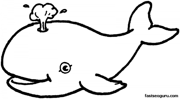 Printable Sea Happy Face Whale Coloring In Sheets Printable Coloring Pages For Kids Whale Coloring Pages Coloring Books Animal Coloring Pages