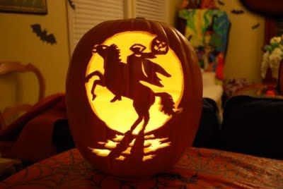 I Really Like The Headless Horseman Spooky Pumpkin Carving Halloween Pumpkin Designs Halloween Jack O Lanterns