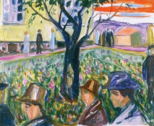 People Wandering in the Garden  Edvard Munch, 1929-1930