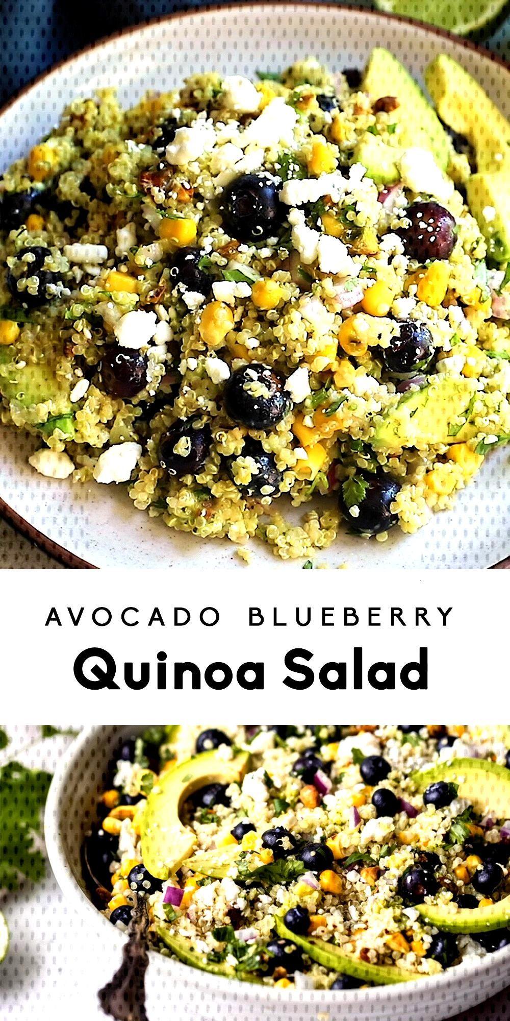 Avocado Blueberry Quinoa Salad, Avocado Blueberry Quinoa Salad,