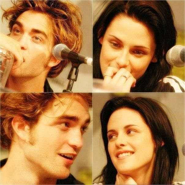 """""""It's as if you feel that someone is looking at you, you turn around and really catch his eye.""""- Kristen about Robert"""