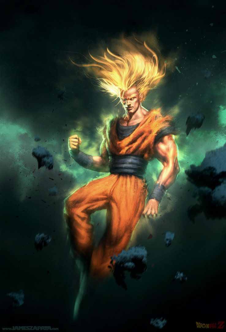 Son goku by james face on deviantart dragonball z gt - Dbz fantasy anime ...
