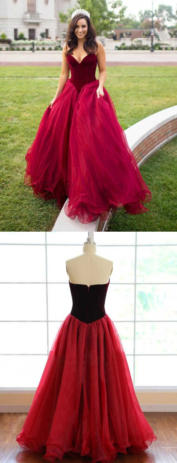 Strapless prom dressesburgundy prom dressesunique prom dresses