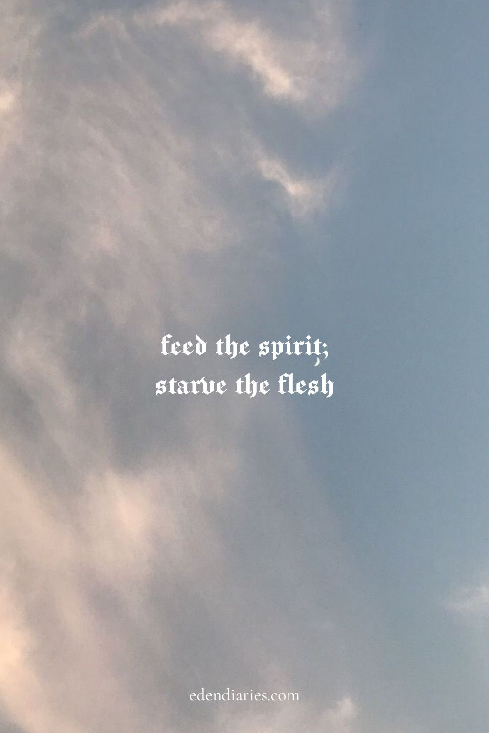 Feed The Spirit; Starve The Flesh   Christian Quotes   Faith Quotes   Jesus Quotes   Gods Love Quote