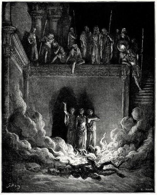 The Fiery Furnace Gustave Dor From The Dor Bible Gallery
