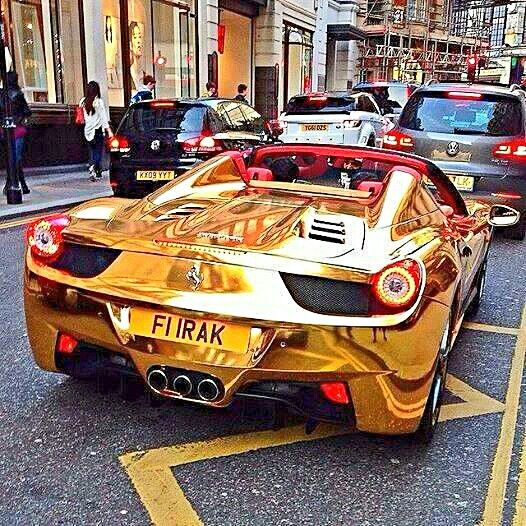 Ferrari Gold Ferrari With Images Best Luxury Cars Super Cars