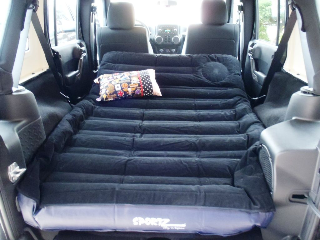 Sportz air mattress for the back of a jeep wrangler