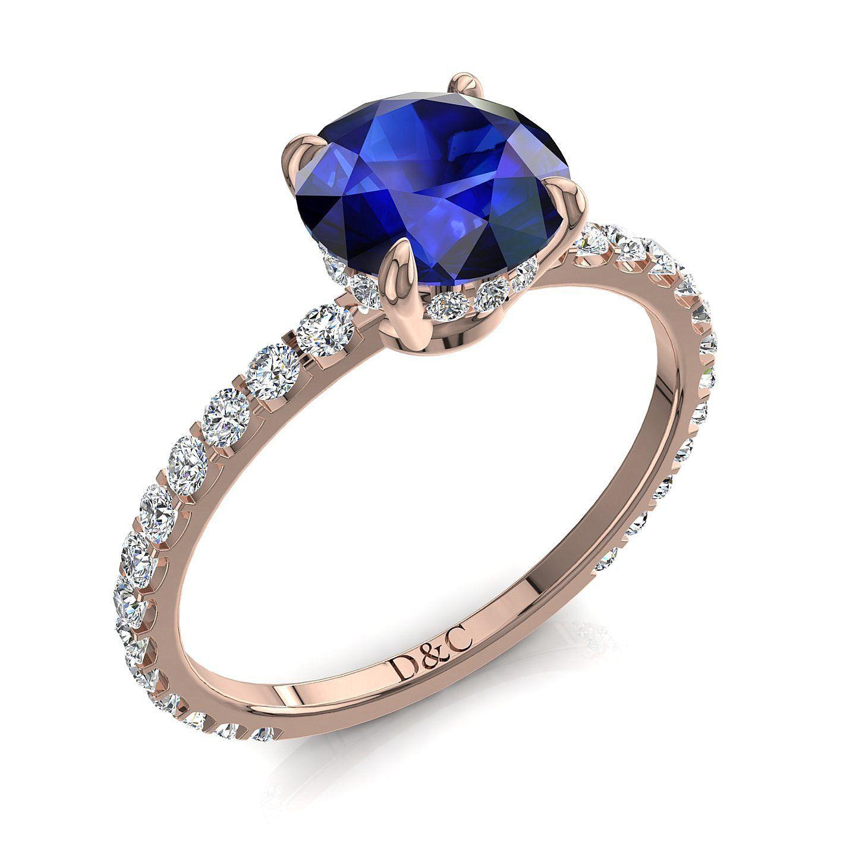 bague solitaire diamant bleu