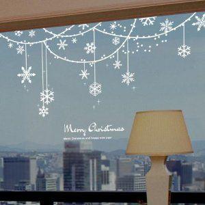 snowflake solid decoration christmas window sticker amazonca baby - Christmas Window Decorations Amazon