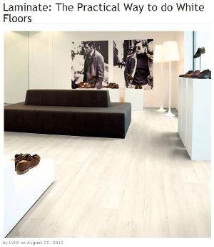 LivingWithWhite laminate floor   Waterproof laminate ...
