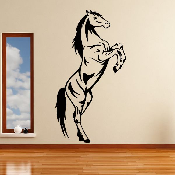 Horse Wall Stickers Horse Rearing Animals Wall Art Stickers - Wall decals animalsanimal wall decal animals wall art stickers animal wall