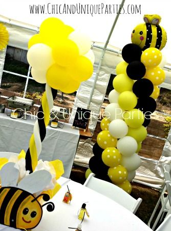 Bee Balloon Decor Tower And Centerpiece
