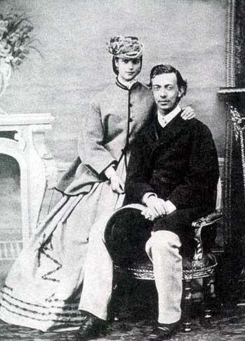 "1864 Dagmar and first fiancé Nicholas (""Nixa"")"