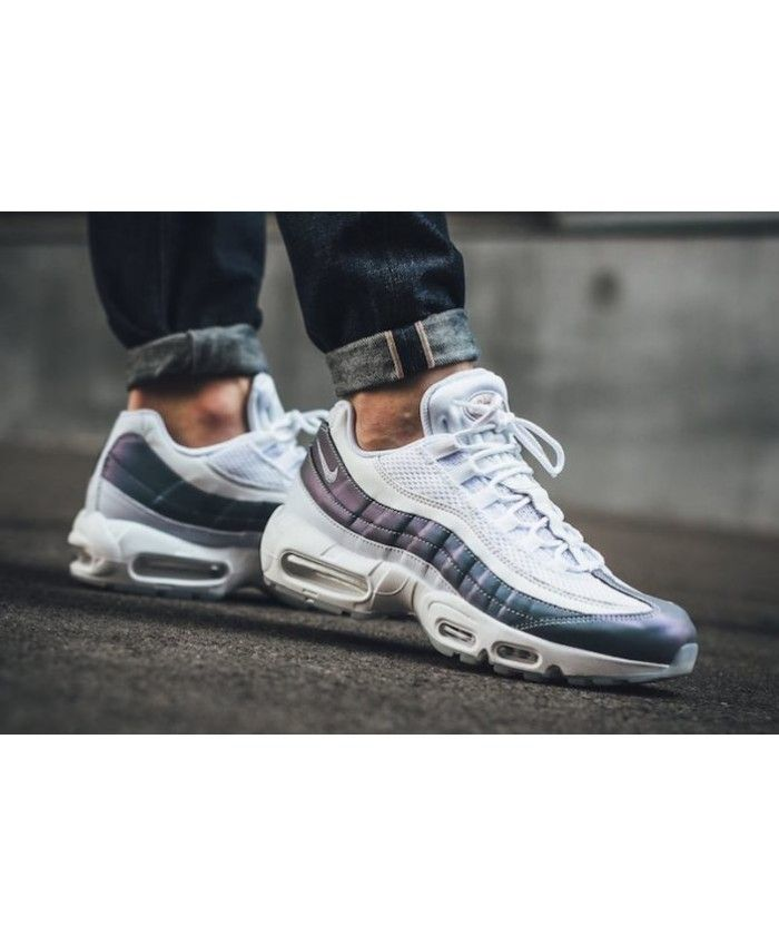 designer fashion 44e81 738d4 Nike Air Max 95 Iridescent White Black Cheap