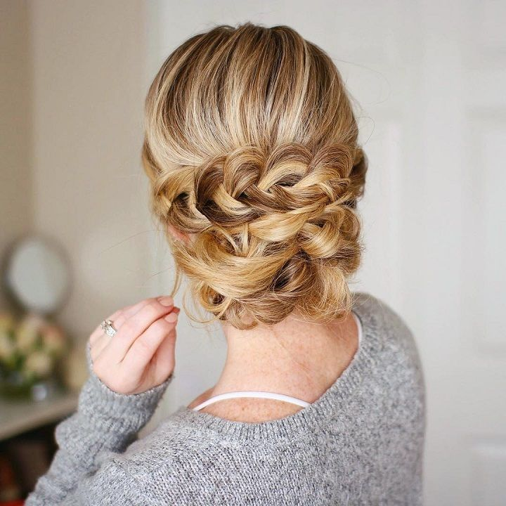 Cute hairstyles for long hair,Soft Braided Updo #hairstyle #hair #promhair #weddinghair #hairstyles
