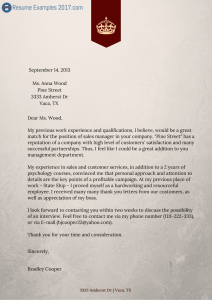 Writing A Good Cover Letter Will Help You Be Considered For A Job