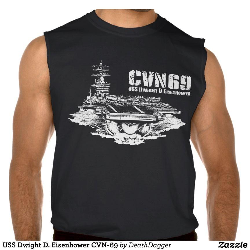 a85b9d54fa237f USS Dwight D Eisenhower CVN-69 Sleeveless Shirt Tank Tops