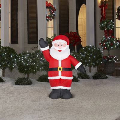 christmas inflatable decorations 4 airblown inflatable illuminated small outdoor santa by gemmy american - American Sales Christmas Decorations