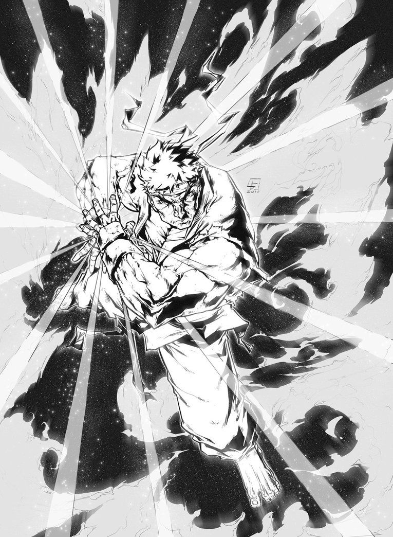 Hadouken - RYU from Street Fighter COMMISSION by marvelmania