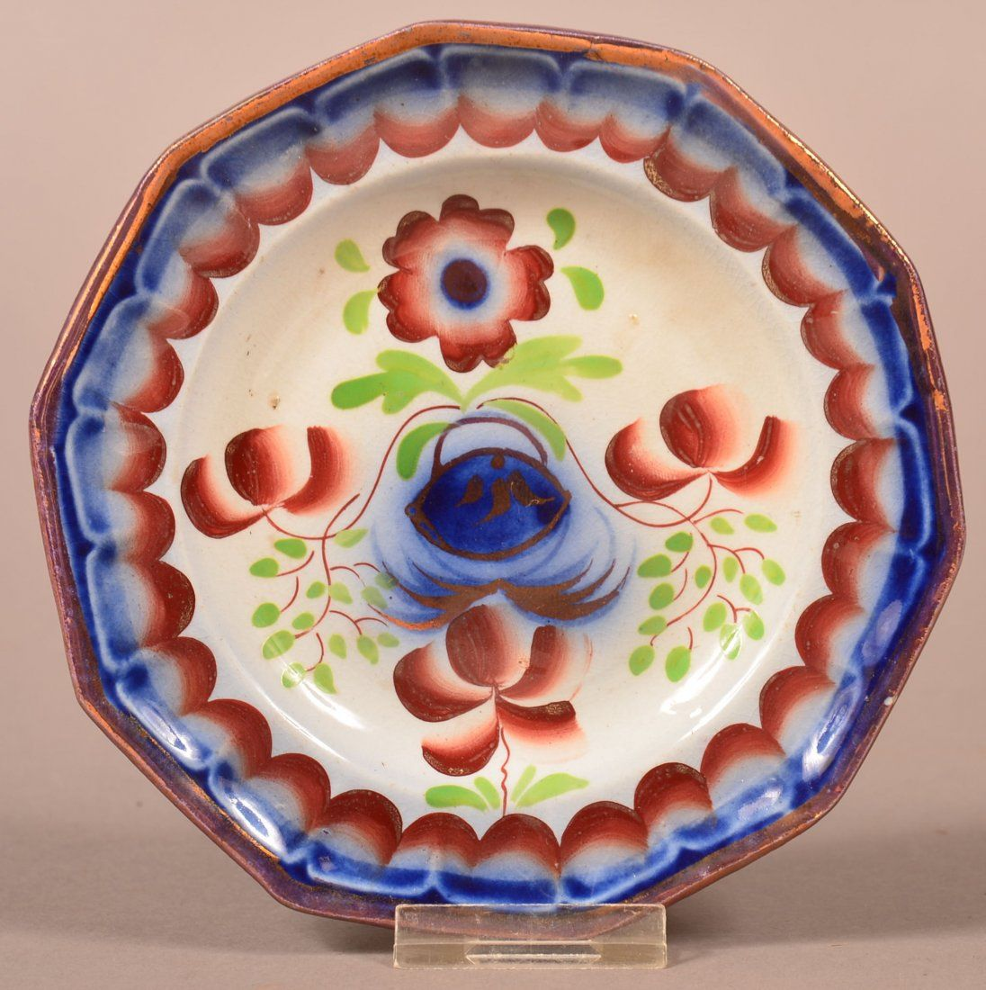 Gaudy Ironstone with copper lustre